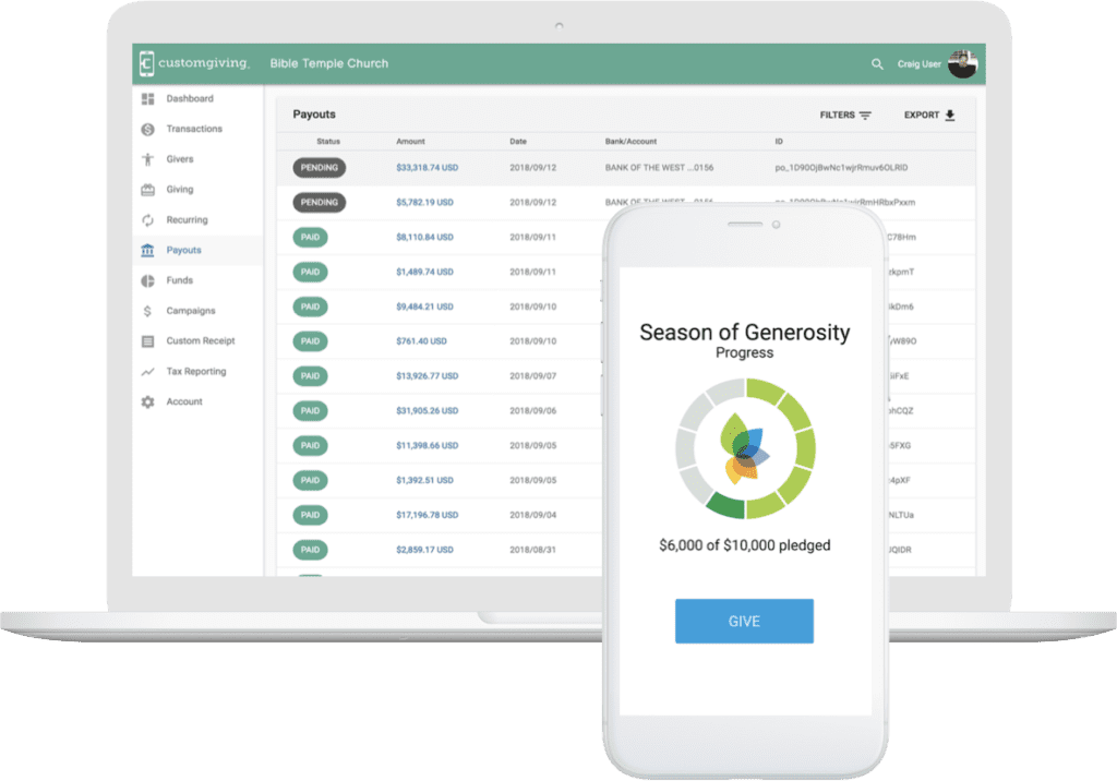 Customgiving App Console